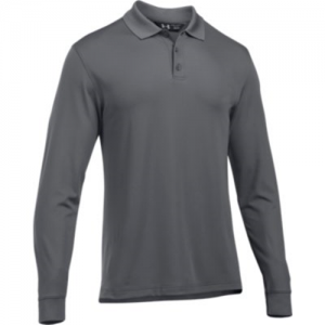 Under Armour Performance Men's Long Sleeve Polo in Graphite - Small