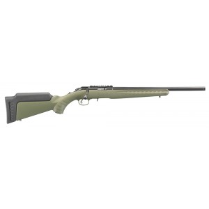"Ruger American Rimfire Threaded ODG 22 LR .22 Long Rifle 10-Round 18"" Bolt Action Rifle in Blued - 8334"