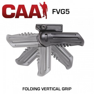CAA Command Arms 5-Position Folding Vertical Grip, Fits Picatinny, Black FVG5