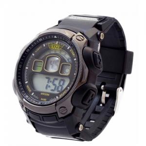 UZI Digital Sports Watch, 5ATM, Multi Function, Back Glow, Stainless Steel Caseback, Rubber Strap