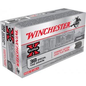 Winchester Super-X .38 Special Lead, 158 Grain (50 Rounds) - USA38CB
