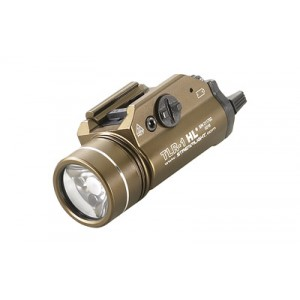 Streamlight Tlr-1 Hl, High Lumen Rail Mounted Tactical Light, Pistol And Picatinny, Fde Brown, C4 Led 800 Lumens With Strobe, 2x Cr123 Batteries 69267