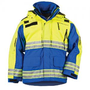 5.11 Tactical Responder High-Visibility Parka Men's Full Zip Coat in Royal Blue - Small