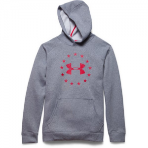 Under Armour Freedom Men's Pullover Hoodie in True Gray Heather - Small