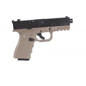 """ISSC/LSI M22SD .22 Long Rifle 10+1 4.375"""" Pistol in Black Slide/Desert Tan Frame - 111008"""