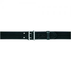 875 Sam Browne Style Stitched Edge 2.25  Duty Belt Finish: Basket Weave Waist: 36  Waist Buckle: Brass Buckle