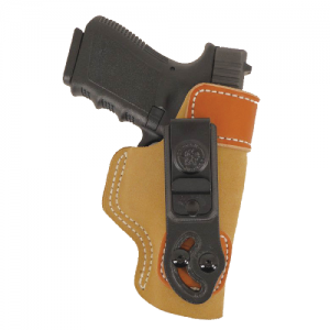 "Desantis Gunhide Sof-Tuck Left-Hand IWB Holster for Beretta 84F in Brown Suede (4"") - 106NB75Z0"