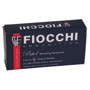 Fiocchi Ammunition 9mm Jacketed Hollow Point, 124 Grain (50 Rounds) - 9APBHP