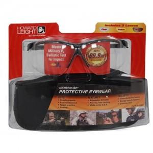Howard Leight Shooting Glasses w/Black Frame & Clear/Gray & Amber Lens R01637