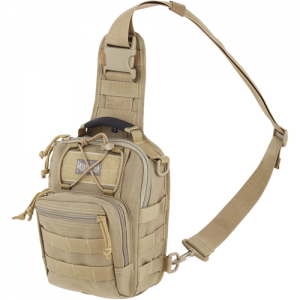 Maxpedition Remora Gearslinger Waterproof Sling Backpack in Khaki 1050D Nylon - 0419K