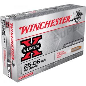 Winchester Super-X .25-06 Remington Positive Expanding Point, 90 Grain (20 Rounds) - X25061