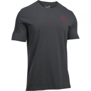 Under Armour Freedom Flag Men's T-Shirt in Carbon Heather/Red - X-Large