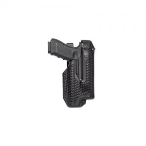 Blackhawk Epoch L3 Molded Light Bearing Left-Hand Belt Holster for Glock 17 in Black Basketweave - 44E000BW-L