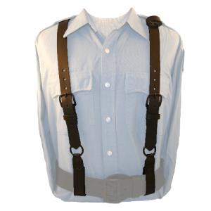 Boston Leather Police Suspenders in Black