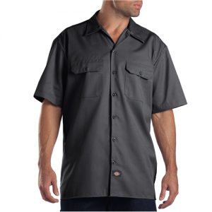 Dickies Work Shirt Men's Uniform Shirt in Charcoal - Large