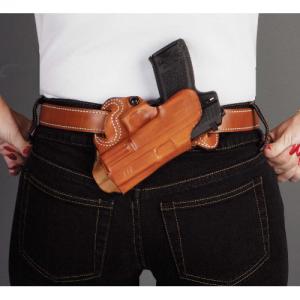 "Desantis Gunhide S.O.B. - Small of Back Right-Hand Belt Holster for Sig Sauer P229R in Black (4"") - 067BA88Z0"