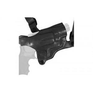 Desantis Gunhide 11D New York Right-Hand Shoulder Holster for Glock 17, 19, 22, 23, 36, 17, 19, 22, 23, 26, 27 in Black Leather - 11DBAB2J0