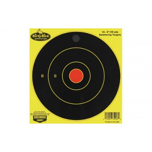 "Birchwood Casey Dirty Bird Target, Round Bullseye, 6"", 16 Targets, Yellow 35906"