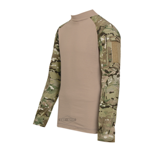 Tru Spec Combat Shirt Men's Long Sleeve Shirt in Multicam/Coyote - X-Large