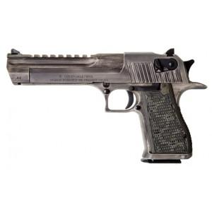 "Magnum Research Desert Eagle Mark XIX .44 Remington Magnum 9+1 6"" Pistol in White Matte Distressed Cerakte - DE44WMD"