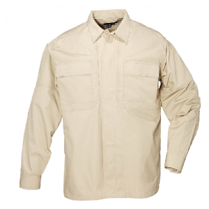 5.11 Tactical Ripstop TDU Men's Long Sleeve Shirt in TDU Khaki - Large