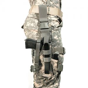 """Blackhawk Elite Omega VI Right-Hand Thigh Holster for Beretta 92 in Black (5"""") - 40QD42BK"""