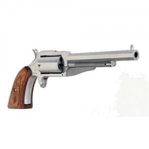 """North American Arms 1860 .22 Winchester Magnum 5-Shot 4"""" Revolver in Stainless (The Earl) - 18604"""