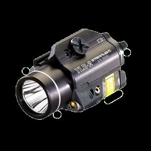Streamlight 69120 TLR-2 Rail Mounted LED Flashlight w/Laser Sight 300 Lm Alum B