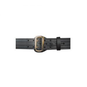Boston Leather Sam Browne Belt in Black Plain - 36