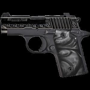 "Sig Sauer P238 Micro-Compact Black Pearl .380 ACP 6+1 2.7"" Pistol in Black Nitron (Black Pearl Grip) - 238380ESB"