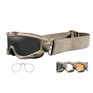 Wiley X - Spear Goggle  Tan Smoke Grey / Clear / Light Rust / RX Insert