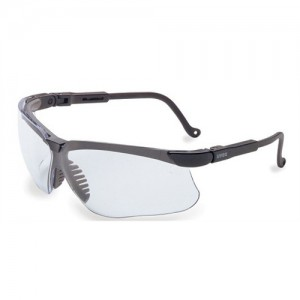 Howard Leight Genesis Safety/Shooting Glasses w/Clear Lens & Black Frame R03570