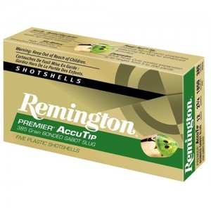 "Remington Premier AccuTip Bonded .12 Gauge (3"") Slug (Power Point Tip) Lead (5-Rounds) - PRA12M"