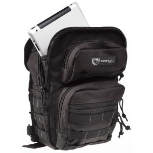 """Drago Gear 14306BL Sentry Pack for iPad Backpack 600D Polyester 13""""x10""""x7"""" Black"""
