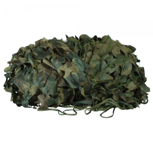Mil-Spec Leaf-Cut Netting Color: Woodland Camo Size: 10' x 10'