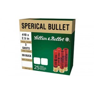 "Sellier & Bellot Shotshell .410 Gauge (2.5"") Buckshot Shot (25-Rounds) - SB410A"