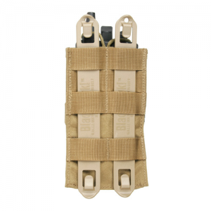 STRIKE Sm Radio/GPS pouch/clip  S.T.R.I.K.E. Small Radio/GPS pouch w/Speed clips, Coyote Tan, Snap and hook and loop securing tab holds radio or GPS in place.