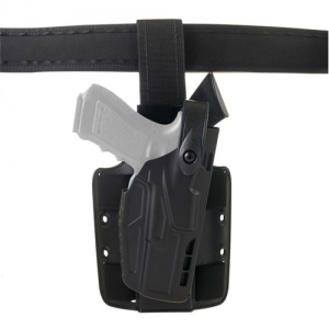 Safariland 7TS ALS Right-Hand Thigh Holster for Glock 17, 22 in STX Plain Black (W/ ITI M3) - 7304-832-411