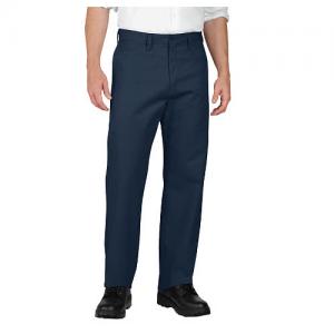 Dickies Industrial Flat-Front Pant Men's Uniform Pants in Navy - 34 x 32