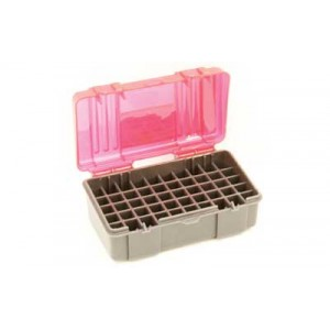 Plano Ammunition Box, Holds 50 Rounds Of .357/.38 Sp/.38 Handgun Rounds, Charcoal/rose , 6 Pack 1225-50