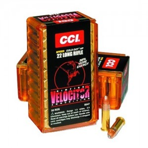 CCI Speer Small Game .22 Long Rifle Hollow Point, 40 Grain (50 Rounds) - 47