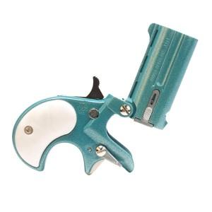 """Cobra Enterprises C22TLP .22 Long Rifle 2-Shot 2.4"""" Derringer in Teal W/Pearl - C22TLP"""