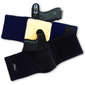 """Galco International Ankle Lite Right-Hand Ankle Holster for 1911 in Black (3"""") - AL424B"""
