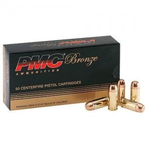 PMC Ammunition Bronze 9mm Full Metal Jacket, 115 Grain (50 Rounds) - 9A