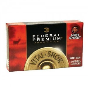 "Federal Cartridge Vital-Shok Medium Game .12 Gauge (2.75"") Slug (Rifled) Lead (5-Rounds) - PB127RS"