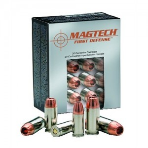Magtech Ammunition First Defense .40 S&W Solid Copper Hollow Point, 130 Grain (20 Rounds) - FD40A