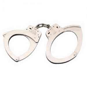 S&W 110 Chain Oversized Nickel Handcuff have key actuated lock along with double locking system which is actuated by means of a slot lock. Wrist opening is 2.80 inch, weight 18.0 oz and distance between this cuffs is 2.00 inch.