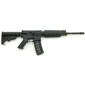 "CMMG M4 LE Piston .22 Long Rifle 25-Round 16"" Semi-Automatic Rifle in Black - 22A7CDA"