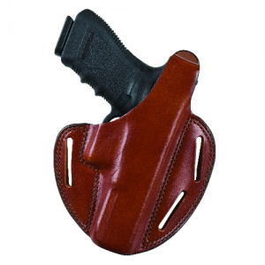 Shadow II Pancake-Style Holster Gun FIt: 33 / S&W / 4006Tsw, [5906Tsw (Round Trigger Guard)] Hand: Right Hand Color: Plain Black - 18280