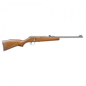 "Marlin Firearms Single Shot Youth .22 Short/.22 Long Rifle 16.25"" Bolt Action Rifle in Stainless Steel - 70692"
